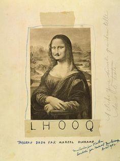 Francis Picabia (reproduction of Marcel Duchamp) Tristan Tzara, Mona Lisa, Conceptual Art, Surreal Art, Dada Art Movement, Dada Collage, Inspiration Artistique, Francis Picabia, Famous Portraits