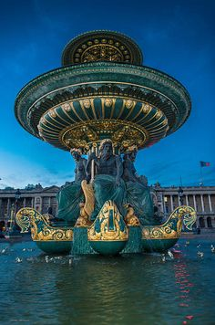 The Place De La Concorde, Paris, France.