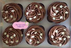 Chocolate Cupcakes with mini white chocolate stars