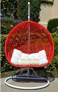 Schön 2 Persons Seater Egg Nest Shaped Wicker Rattan Swing Lounge Chair Hanging  Hammock