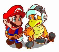 Mario and Hammer Bro. Super Mario Bros, Super Mario World, Super Mario Brothers, Mario Bros., Mario And Luigi, Hammer Bro, Super Princess Peach, King Boo, Video Game Art