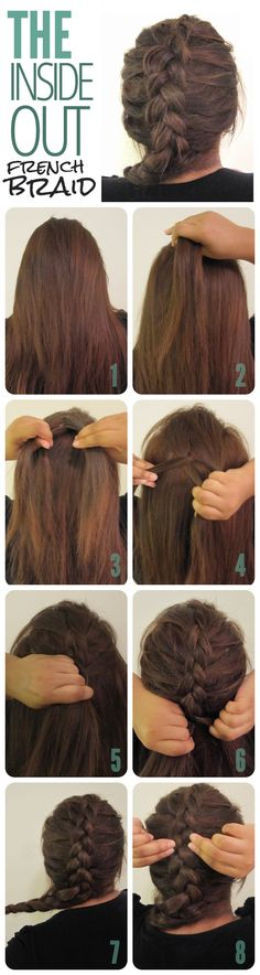 The Inside Out French Braid