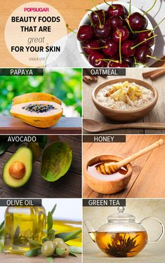 10 foods that aren't just delicious, but are beauty miracles, too. Pin for clearer skin! #skincare
