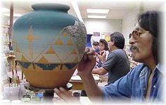 Sioux Pottery - E. St. Joseph St. Rapid City. Handmade pottery is crafted by Sioux indian artists and made from the red clay of the Black Hills, sacred to the Lakota Native American People.   Visitors can walk through the factory, meet the artists and see the process from start to finish.