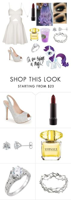 """""""Rarity// My Little Pony"""" by kain-loves-shawn ❤ liked on Polyvore featuring WYLDR, Lauren Lorraine, MAC Cosmetics, By Emily, Versace, Tiffany & Co. and Links of London"""