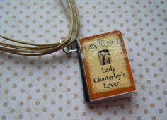 LADY'S CHATTERLEY'S LOVER BOOK CHARM  multi-strand cotton necklace £8.00