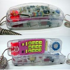 Transparent phone. 80's love