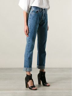 Curvy figure: Levi's Vintage Clothing 501 Jeans Which Vintage Levi's Jeans Cut Is the Most Flattering for YOUR Body? via @WhoWhatWear