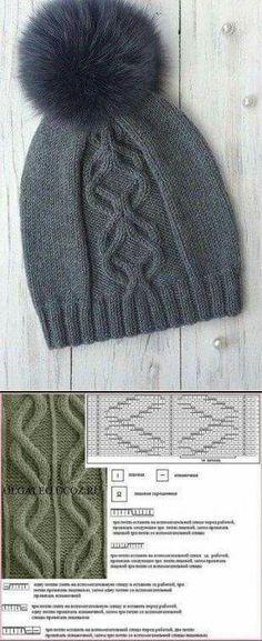 Beanie Knitting Patterns Free, Knitting Paterns, Baby Hats Knitting, Knitting Charts, Easy Knitting, Knitting Stitches, Knit Patterns, Knitting Projects, Knitted Hats