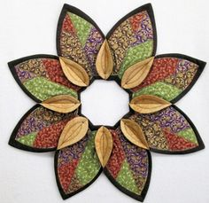 Autumn Fold'n Stitch Leaf Topper Kit #foldnstitch #poorhousequiltdesigns