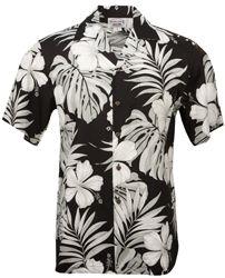 Hibiscus Passion - Mens Hawaiian Aloha Shirt - Black