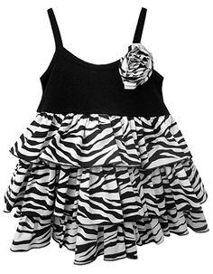 black and white zebra ruffled dress Cute Outfits For Kids, Cute Kids, Little Girl Dresses, Girls Dresses, Fashion Terms, White Zebra, Kids Wear, Ruffle Dress, Black And White