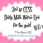 After many, many requests, I made my 3rd grade common core daily math warm ups into a yearlong set!  *This is the full unit will all four sets comb...