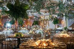 Lush greenery filled the entire room to completely transform the Crystal Ballroom at the @bevhillshotel(Venue: @bevhillshotel   Planner: @internationaleventco @margot_iec   Design Décor and Florist: @theemptyvase @emptyvaseyvonne   Photographer: @jessicaclaire   Videographer: @cloudlessweddings   Lighting: @images_lighting   Décor: @revelryeventdesign @revelrymatias   Band: @liventgroup   Linens: @latavolalinen   Ceremony Chairs: @chiavarichairrentals   Reception Chairs and Chargers…