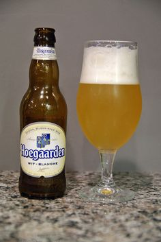 Brouwerij van Hoegaarden Witbier. These usually unfiltered pale ale witbiers can come with a variety of spices, so taste can vary quite a bit. I typically have found them to be fairly light drinking beers thus far. This one had something? in the taste that I just didn't care for. I'll keep trying the style, but not this one again.
