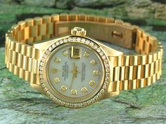 Rolex Lady President - Mother Of Pearl Diamond Dial Channel set Diamond Bezel. Pre-Owned