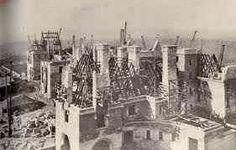 Early construction of BILTMORE ESTATE