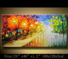 contemporary wall art,, Modern Textured Painting,Impasto  Landscape  Textured…