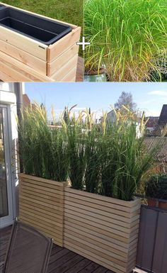 Privacy is often a problem that is difficult to avoid in a small space such as a balcony. The solution is through planting tall lemon grass in the tall wooden planters for the extra privacy.