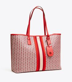 Visit Tory Burch to shop for Gemini Link Canvas Tote and more Womens Matching Wallets & Handbags. Find designer shoes, handbags, clothing & more of this season's latest styles from designer Tory Burch. Canvas Tote Bags, Valentine Day Gifts, Gemini, Designer Shoes, Latest Fashion, Diaper Bag, Tory Burch, Women's Handbags, Latest Styles