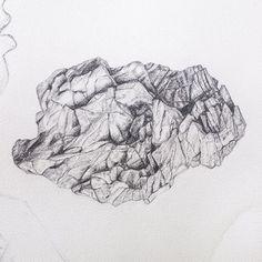 David Fooks - #WIP Rocks + Lips #basalt #iceland #graphite #contemporaryart #illustration  #detail #artwork #vscocam #vsco #paper #drawing #art