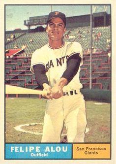felipe alou baseball card   1961 Topps Felipe Alou #565 Baseball Card Value Price Guide