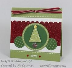 Pennant Parade Merry Card by jillastamps - Cards and Paper Crafts at Splitcoaststampers