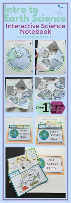 Start the school year off right with this FREE first chapter of The Earth Science Interactive Notebook series: Intro to Earth Science. The concepts in this chapter will introduce some key vocabulary and enable students to start understanding the different Earth Science Activities, Earth Science Lessons, Earth And Space Science, Science Education, Teaching Science, Science For Kids, Science Projects, Science Experiments, Vocabulary Activities