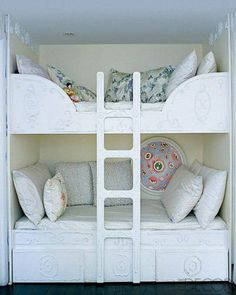 White Bunks + Pop of Color