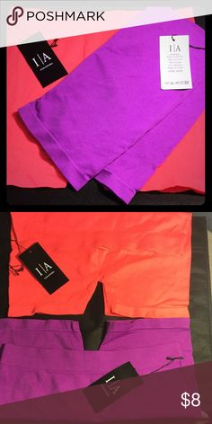 ICON Apparel Active Stretch Boyshort (2) Soft, seamless stretch boyshort brief, for exercise or line-free look under fitted pants.  Hot Peach and Purple.  One Size Fits Most. ICON Intimates & Sleepwear Panties