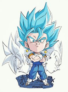 Dragon Ball Gt, Dragon Ball Image, Chibi Goku, Gogeta E Vegito, Kid Buu, Ball Drawing, Akira, Cartoon Painting, Joko