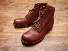 heritage men style - British Army 1940S M-42 Combat Boots
