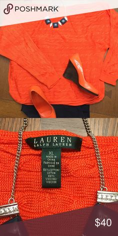 Lauren by Ralph Lauren Dolman Sleeve Sweater NWOT Beautiful Orange Lauren by Ralph Lauren with slight Dolman Sleeve Sweater Lauren Ralph Lauren Sweaters Crew & Scoop Necks
