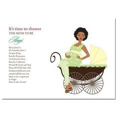 25 best african american baby shower invites images on pinterest african american baby shower invitations via soulfulmoon pretty pram filmwisefo