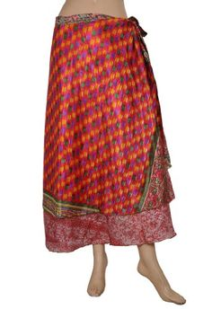 Indian Recycled Printed Sari Two Layer Sarong « Dress Adds Everyday