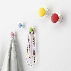Ikea Losjön colourful hooks