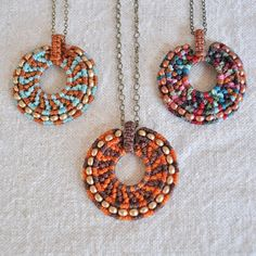 Amira Jewelry - because I have always loved Macrame....