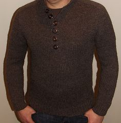 Ravelry: Ecological Wool® Manly Henley C243 pattern by Vera Sanon