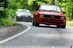 Audi Sport quattro followed by Audi TT RS. Photo by Fourtitude.com