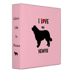 I LOVE My Newfoundland Dog 3 Ring Binder - home gifts ideas decor special unique custom individual customized individualized