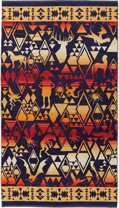 Pendleton Harry Potter(TM) Magical Creatures Towel Tribal Wallpaper, Harry Potter Gifts, Southwestern Decorating, Beach Blanket, Magical Creatures, Beach Towel, Kids Rugs, Nordstrom, Design