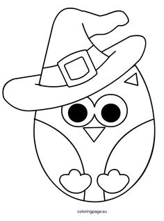 halloween coloring page cute halloween owl coloring pages