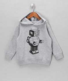 Heather Gray Winding Robot Hoodie - Toddler & Boys
