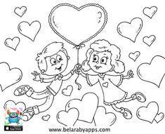 Happy children's day coloring pages - free printable ⋆ BelarabyApps Heart Coloring Pages, Online Coloring Pages, Animal Coloring Pages, Coloring Pages For Kids, Coloring Books, Fathers Day Coloring Page, Valentines Day Coloring Page, Free Printable Coloring Sheets, Free Printable Cards