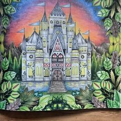 Johanna Basford colouring book Enchanted Forest Meine Werke