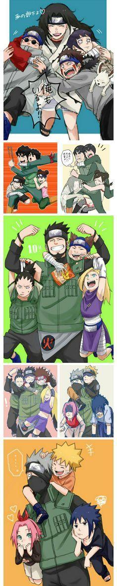 The teams of naruto Boruto, Anime Naruto, Naruto Comic, Naruto Sasuke Sakura, Naruto Cute, Naruto Shippuden Sasuke, Shikamaru, Manga Anime, Kakashi