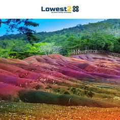 Chamarel, a small village in Mauritius, has seven-coloured sands that make the place truly unique.