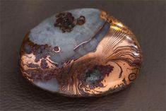 Copper—Agate