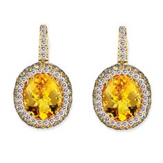 VannaK.com  Diamonds: 18K E(D.62CT/64ST-YS.73CT/52ST)CT6.19CT  Assert yourself with a gleaming earring set that demands to be seen!
