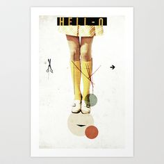 Cut The (...) | Collage Art Print by Ju. Ulvoas - $18.00